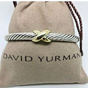 David Yurman X 14k Bangle 5mm Cable Sz Medium